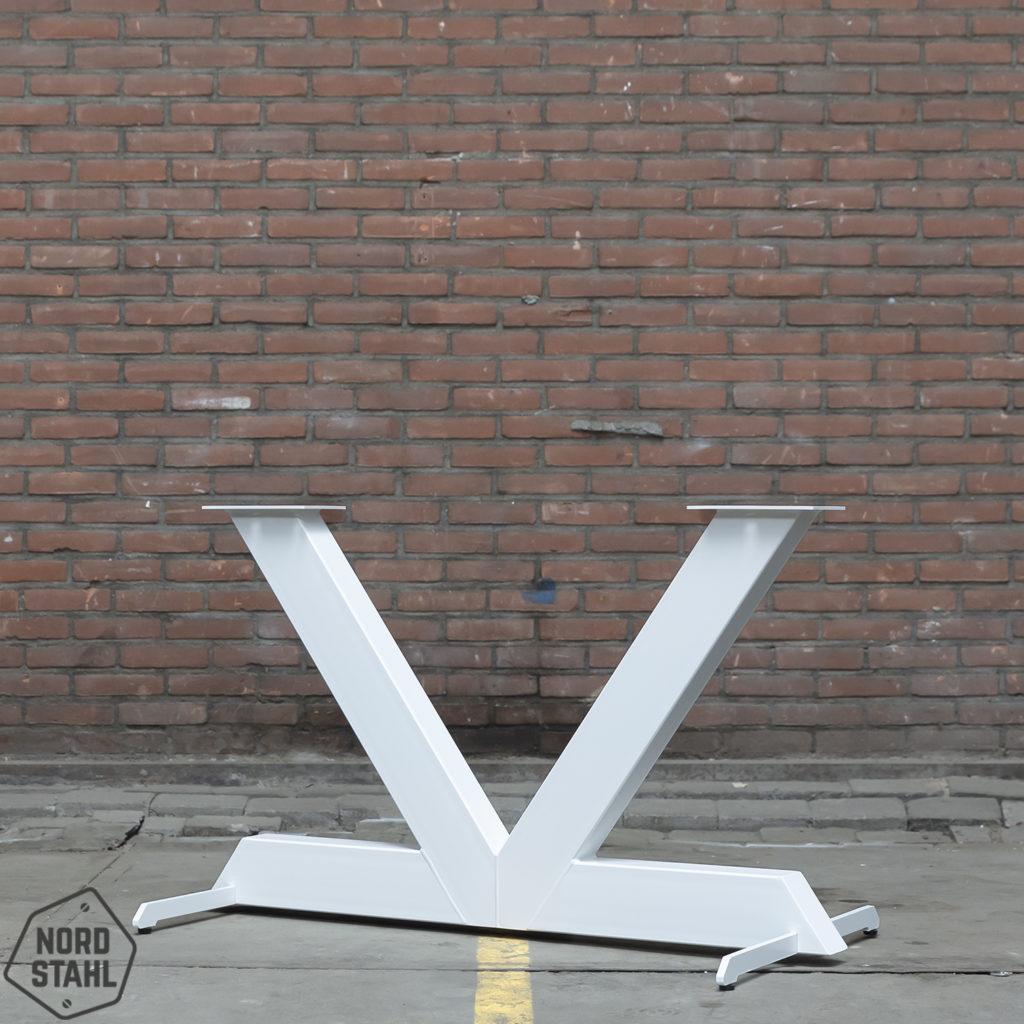 Nordstahl tableleg V white