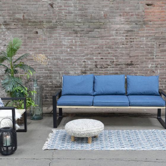 Nordstahl loungebank loungestoel frame staal