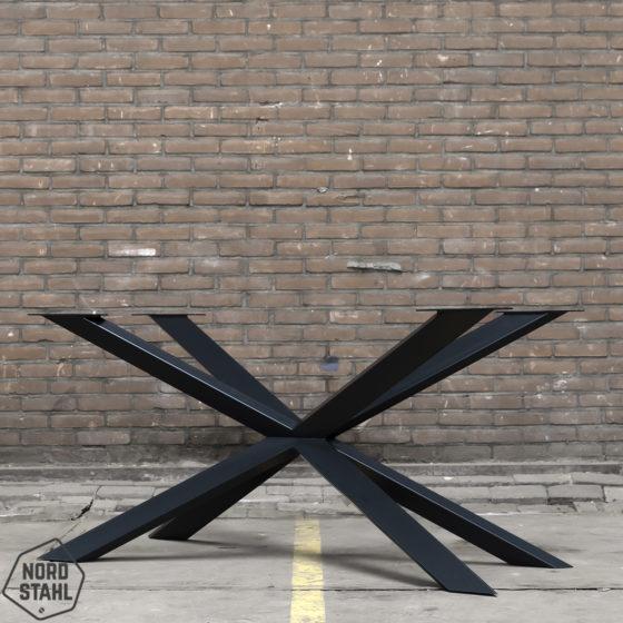 Nordstahl Spider tafelpoot zwart staal